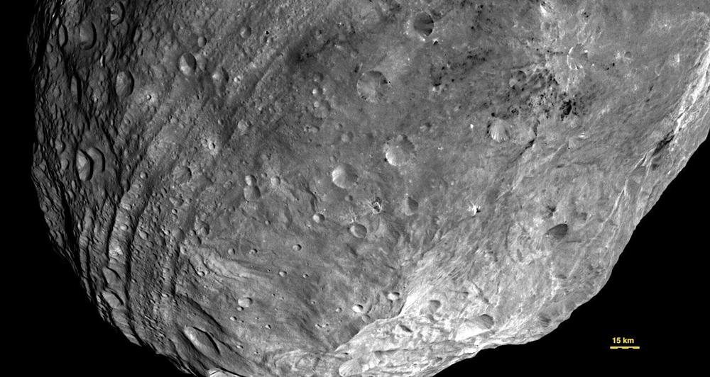 Asteroide vesta pole sud 2011