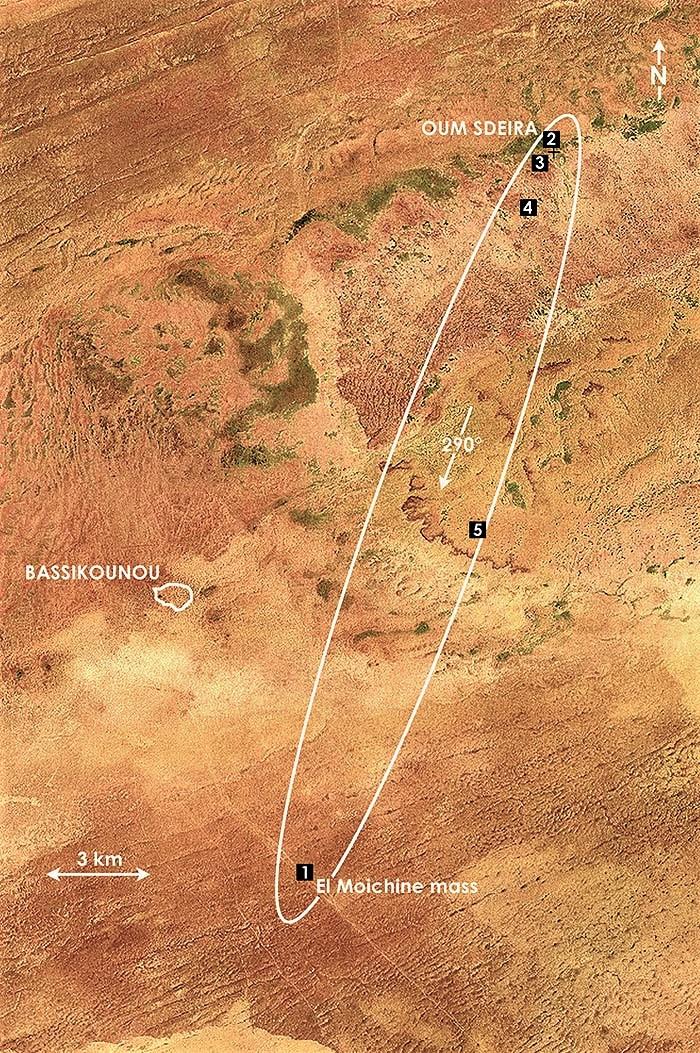 Bassikounou meteorite strewn field