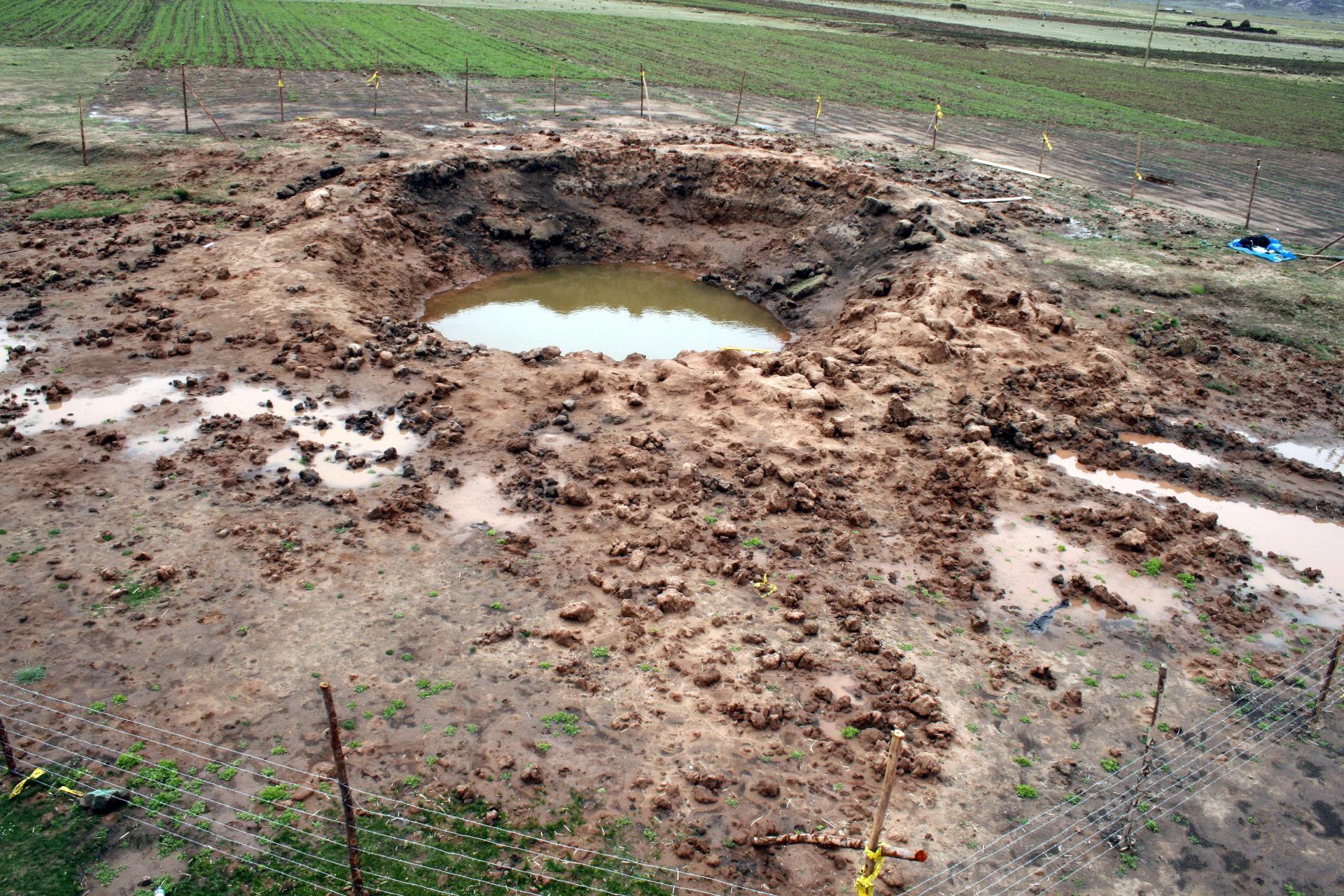 Carancas crater perou