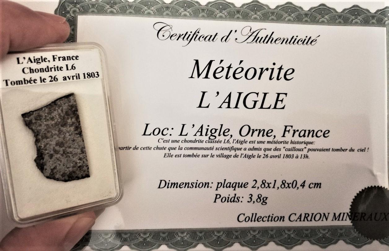 L aigle meteorite france historic