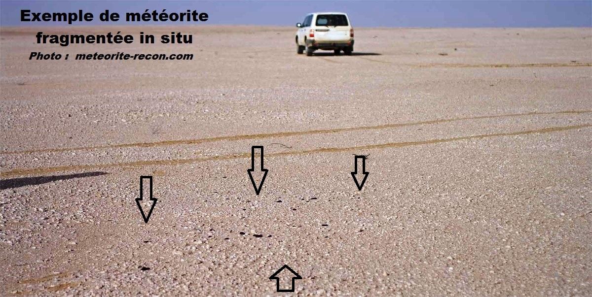 Meteorite in situ 2