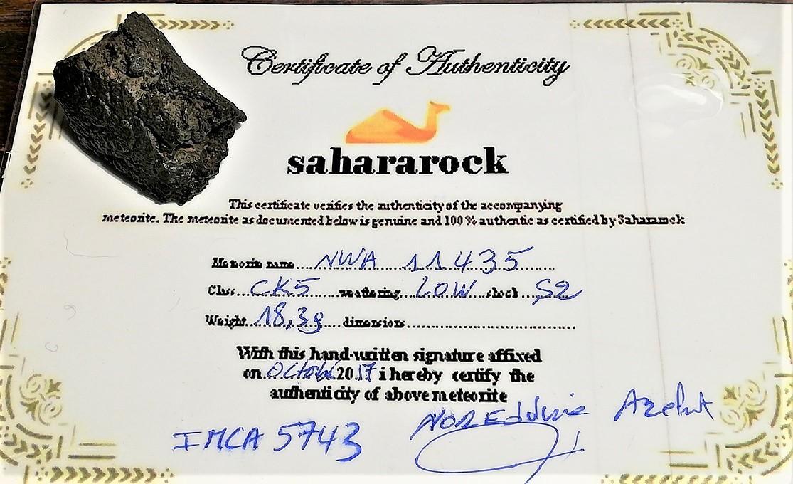 Nwa 11435 carbonaceous ck5