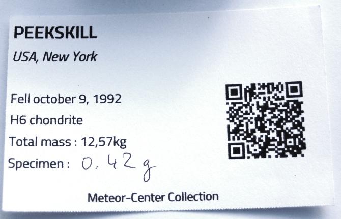 Peekskill certif