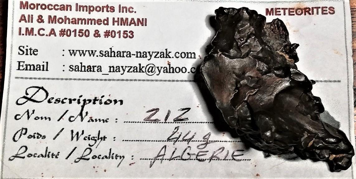 Ziz iron meteorite